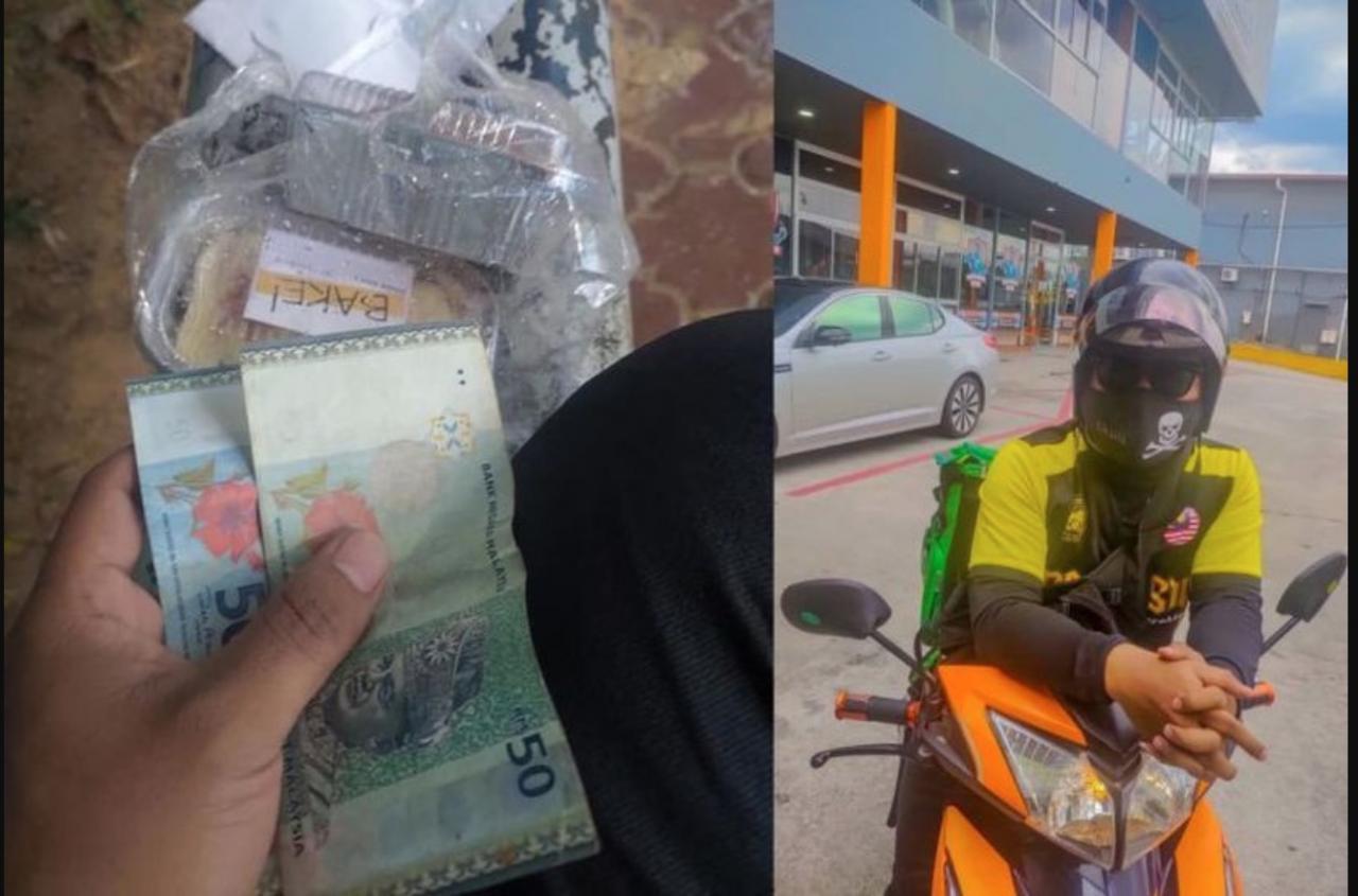sajagempak.com - Rider Basah Kuyup Hantar Makanan Terkejut Menerima Upah Jauh Melebihi Caj Penghantarannya